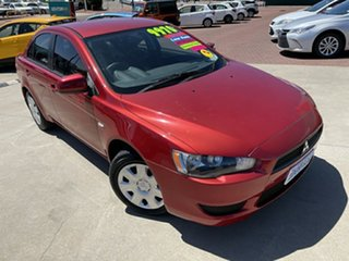 2008 Mitsubishi Lancer CJ MY09 ES Red 6 Speed CVT Auto Sequential Sedan.
