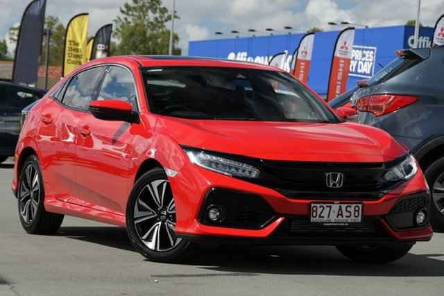 Used Honda Civic 10th Gen MY17 VTi-LX Aspley, 2017 Honda Civic 10th Gen MY17 VTi-LX Red 1 Speed Constant Variable Hatchback