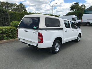 2013 Toyota Hilux KUN16R MY12 SR Double Cab 4x2 White 5 speed Manual Utility
