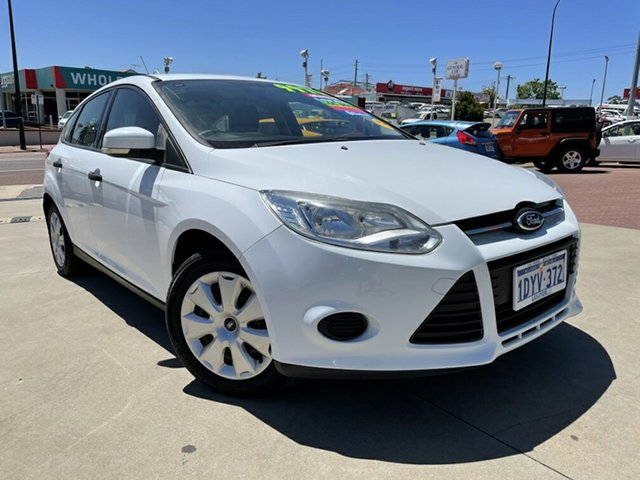 Used Ford Focus LW Ambiente Victoria Park, 2012 Ford Focus LW Ambiente White 5 Speed Manual Hatchback
