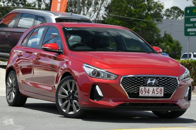 Used Hyundai i30 GD5 Series II MY17 SR Aspley, 2017 Hyundai i30 GD5 Series II MY17 SR Red 6 Speed Sports Automatic Hatchback