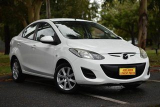 2010 Mazda 2 DE10Y1 MY10 Maxx White 4 Speed Automatic Sedan.