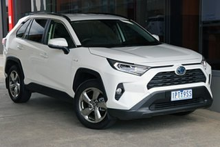2019 Toyota RAV4 Axah54R GXL eFour White 6 Speed Constant Variable Wagon Hybrid.