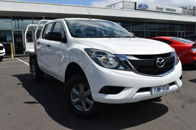 Used Mazda BT-50 UR0YG1 XT 4x2 Hi-Rider Essendon Fields, 2016 Mazda BT-50 UR0YG1 XT 4x2 Hi-Rider White 6 Speed Manual Utility