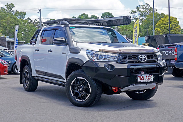 Used Toyota Hilux GUN126R Rugged X Double Cab Chandler, 2018 Toyota Hilux GUN126R Rugged X Double Cab White 6 Speed Manual Utility