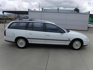 1999 Holden Commodore VT Equipe White 4 Speed Automatic Wagon.