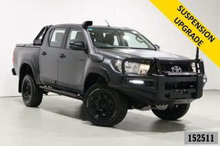 2019 Toyota Hilux GUN126R MY19 Rugged (4x4) Graphite 6 Speed Automatic Double Cab Pick Up.