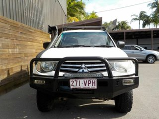 2011 Mitsubishi Triton MN MY11 GLX Double Cab White 5 Speed Manual Utility