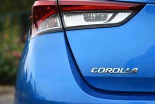 2017 Toyota Corolla ZWE186R Hybrid E-CVT Blue 1 Speed Constant Variable Hatchback Hybrid