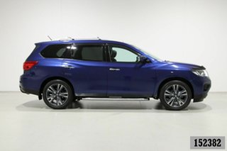 2017 Nissan Pathfinder R52 MY15 Upgrade TI (4x2) Blue Continuous Variable Wagon