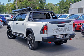 2018 Toyota Hilux GUN126R Rugged X Double Cab White 6 Speed Manual Utility.