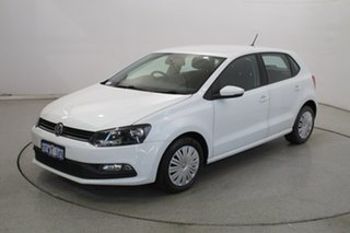 2015 Volkswagen Polo 6R MY15 66TSI Trendline White 5 Speed Manual Hatchback