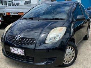 2008 Toyota Yaris NCP90R Rush Black 4 Speed Automatic Hatchback.
