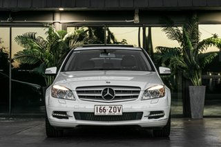 2010 Mercedes-Benz C-Class W204 MY10 C250 CGI Avantgarde White 5 Speed Sports Automatic Wagon.