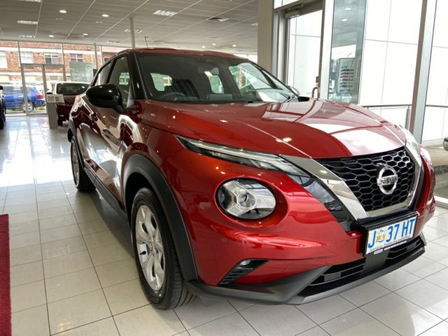 Demo Nissan Juke F16 ST+ DCT 2WD Launceston, 2020 Nissan Juke F16 ST+ DCT 2WD Fuji Sunset Red 7 Speed Sports Automatic Dual Clutch Hatchback