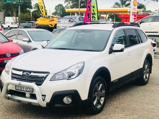 2013 Subaru Outback B5A MY14 2.5i Lineartronic AWD White 6 Speed Constant Variable Wagon.