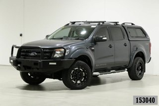 2014 Ford Ranger PX Wildtrak 3.2 (4x4) Graphite 6 Speed Manual Crew Cab Utility.