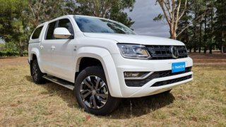 2020 Volkswagen Amarok 2H MY20 TDI580 4MOTION Perm Highline White 8 Speed Automatic Utility.