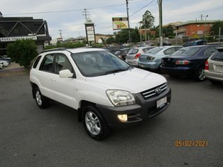 2007 Kia Sportage KM EX-L (Limited) (4x4) White 6 Speed Manual Wagon.