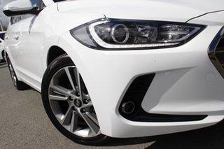 2017 Hyundai Elantra AD MY17 Elite Polar White 6 Speed Sports Automatic Sedan.