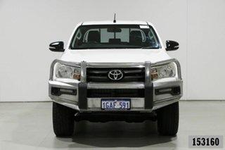 2015 Toyota Hilux GUN126R SR (4x4) White 6 Speed Manual Dual Cab Utility.