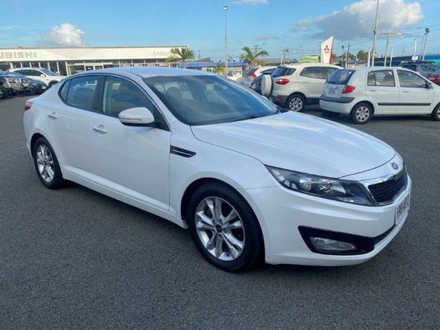 Used Kia Optima TF MY12 SI Gladstone, 2011 Kia Optima TF MY12 SI White 6 Speed Sports Automatic Sedan