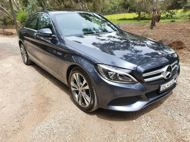 Used Mercedes-Benz C-Class W205 Geelong, 2016 Mercedes-Benz C-Class W205 C200 Grey Sports Automatic Sedan