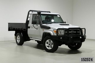2017 Toyota Landcruiser LC70 VDJ79R MY17 GXL (4x4) Silver 5 Speed Manual Cab Chassis.
