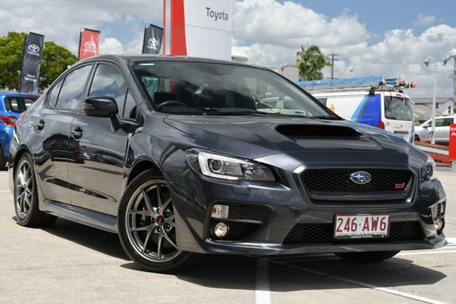 Pre-Owned Subaru WRX V1 MY18 STI AWD Premium Albion, 2017 Subaru WRX V1 MY18 STI AWD Premium Dark Grey 6 Speed Manual Sedan