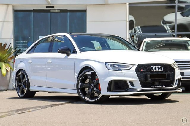 Used Audi RS 3 8V MY18 S Tronic Quattro Sutherland, 2018 Audi RS 3 8V MY18 S Tronic Quattro White 7 Speed Sports Automatic Dual Clutch Sedan