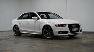 2014 Audi A4 B8 8K MY14 S Line S Tronic Quattro White 7 Speed Sports Automatic Dual Clutch Sedan.