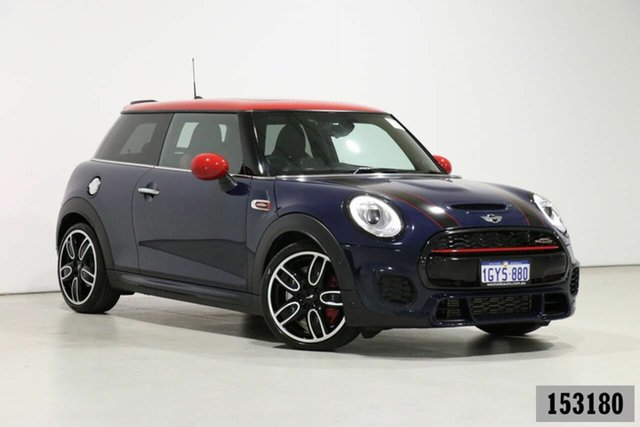 Used Mini 3D Hatch F56 MY18 John Cooper Works Bentley, 2018 Mini 3D Hatch F56 MY18 John Cooper Works Blue 8 Speed Automatic Hatchback