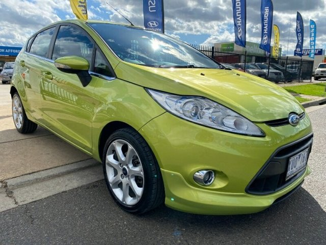 Used Ford Fiesta WS Zetec Melton, 2010 Ford Fiesta WS Zetec Green 4 Speed Automatic Hatchback