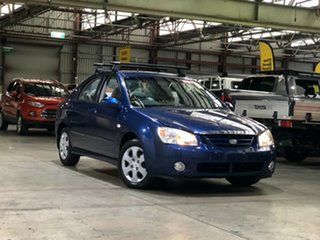 2005 Kia Cerato LD MY04 Blue 4 Speed Automatic Sedan.