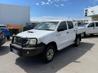 2011 Toyota Hilux KUN26R MY11 Upg SR (4x4) White 5 Speed Manual Dual Cab Chassis.