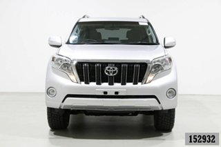 2015 Toyota Landcruiser Prado KDJ150R MY15 Altitude (4x4) Silver 5 Speed Sequential Auto Wagon.