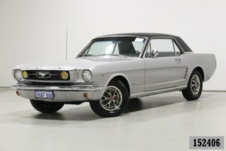 1966 Ford Mustang Silver 3 Speed Automatic Hardtop.