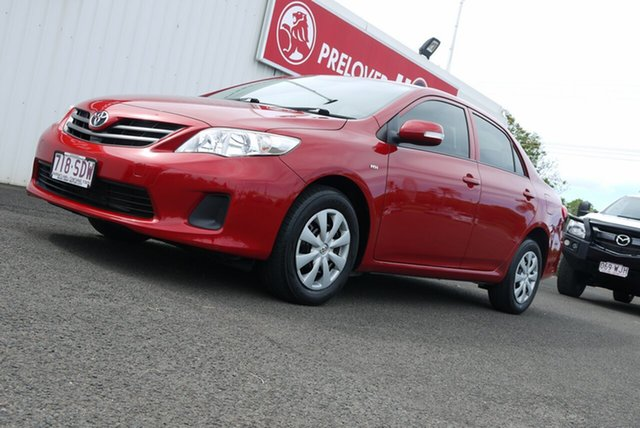 Used Toyota Corolla ZRE152R MY11 Ascent Bundaberg, 2010 Toyota Corolla ZRE152R MY11 Ascent Red 4 Speed Automatic Sedan