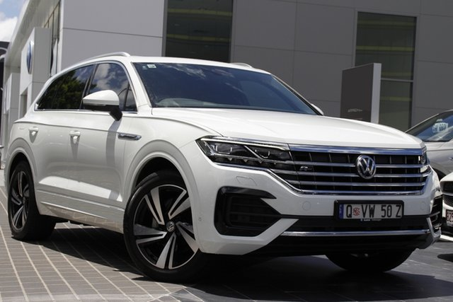 Demo Volkswagen Touareg CR MY20 190TDI Tiptronic 4MOTION Premium Newstead, 2020 Volkswagen Touareg CR MY20 190TDI Tiptronic 4MOTION Premium Pure White 8 Speed Sports Automatic