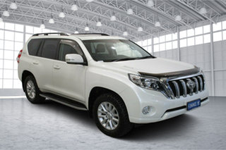 2014 Toyota Landcruiser Prado KDJ150R MY14 Kakadu White 5 Speed Sports Automatic Wagon.