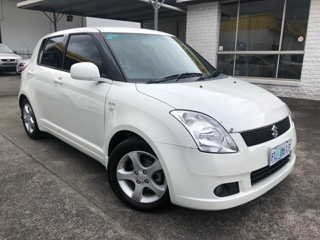Used Suzuki Swift RS415 Derwent Park, 2006 Suzuki Swift RS415 White 5 Speed Manual Hatchback