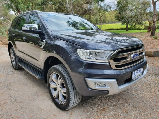 Used Ford Everest UA Titanium Geelong, 2018 Ford Everest UA Titanium Grey Sports Automatic SUV