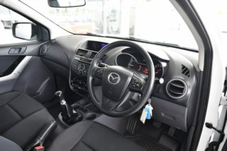 2018 Mazda BT-50 UR0YE1 XT 4x2 White 6 Speed Manual Cab Chassis.