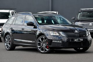 2018 Skoda Octavia NE MY18.5 RS DSG 169TSI Black 6 Speed Sports Automatic Dual Clutch Wagon.