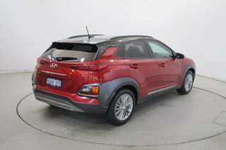 2017 Hyundai Kona OS MY18 Elite 2WD Pulse Red & Phantom Black Roof 6 Speed Sports Automatic Wagon