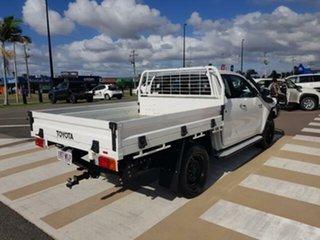 2016 Toyota Hilux GUN126R SR Extra Cab Glacier White 6 Speed Manual Utility
