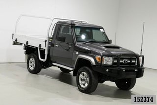 2017 Toyota Landcruiser LC70 VDJ79R MY17 GXL (4x4) Graphite 5 Speed Manual Cab Chassis