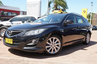 2010 Mazda 6 GH MY10 Touring Black 5 Speed Auto Activematic Wagon.