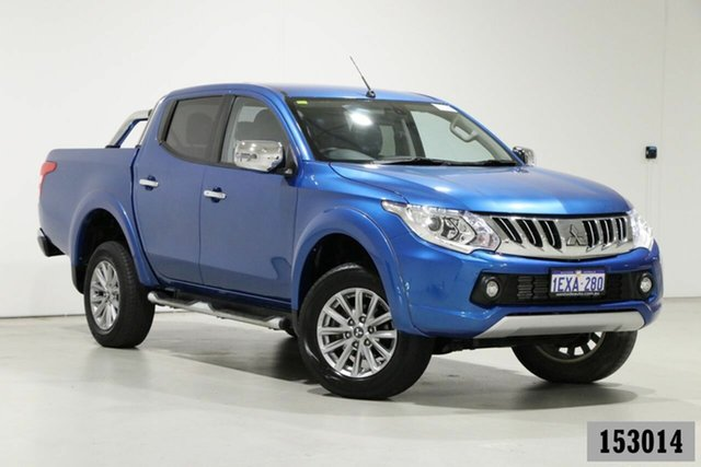 Used Mitsubishi Triton MQ MY16 Exceed (4x4) Bentley, 2015 Mitsubishi Triton MQ MY16 Exceed (4x4) Blue 5 Speed Automatic Dual Cab Utility