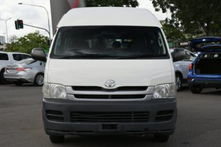 2009 Toyota HiAce KDH223R MY10 Commuter High Roof Super LWB White 4 Speed Automatic Bus